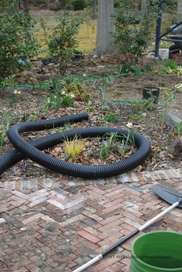 pipe in the garden