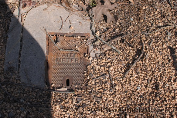 water meter, west facing