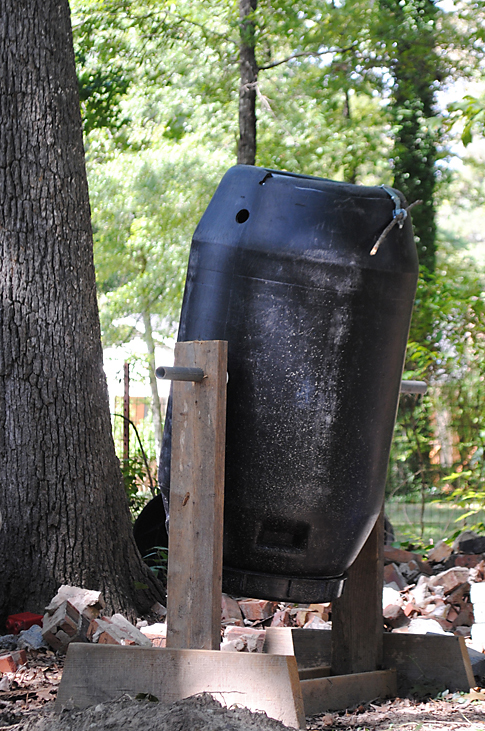 homemade compost tumbler