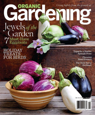 A sample cover image of Organic Gardening magazine