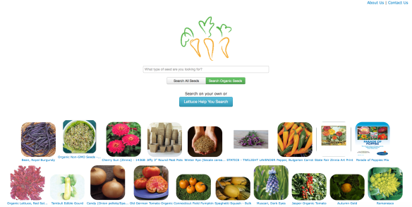 The home page of PickACarrot.com
